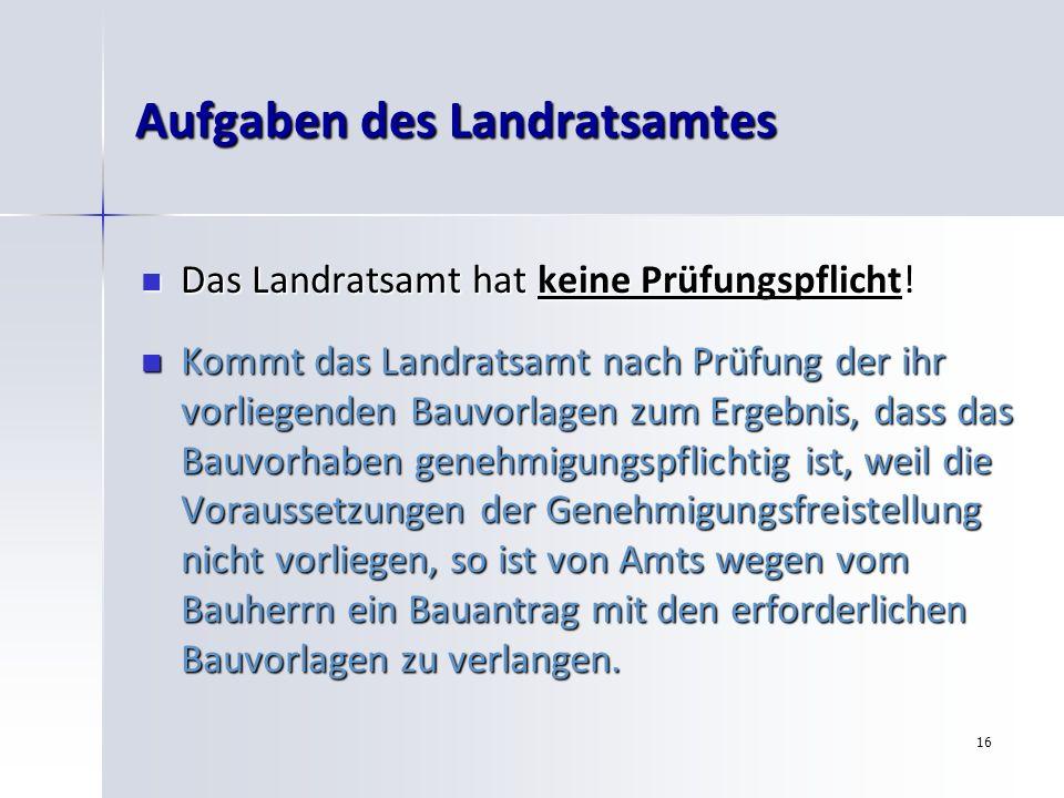 Aufgaben des Landratsamtes