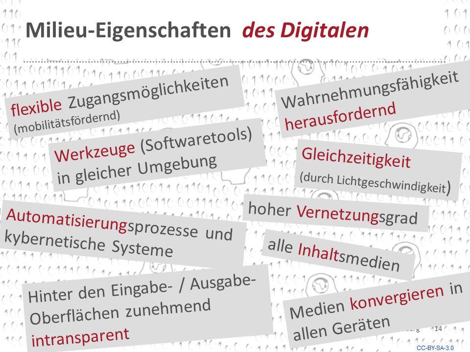 Milieu-Eigenschaften des Digitalen