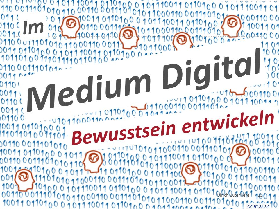 Medium Digital Im Bewusstsein entwickeln