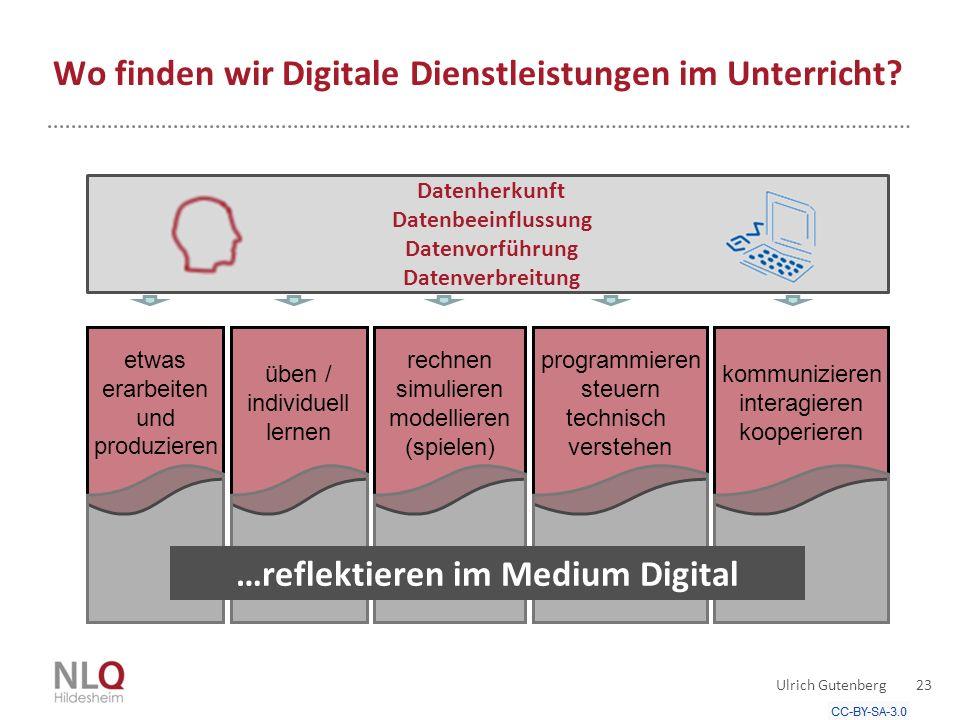Wo finden wir Digitale Dienstleistungen im Unterricht
