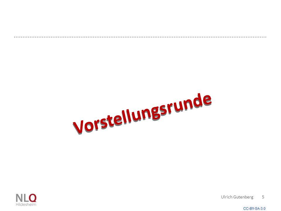 Vorstellungsrunde Vorstellungsrunde Ulrich Gutenberg 5