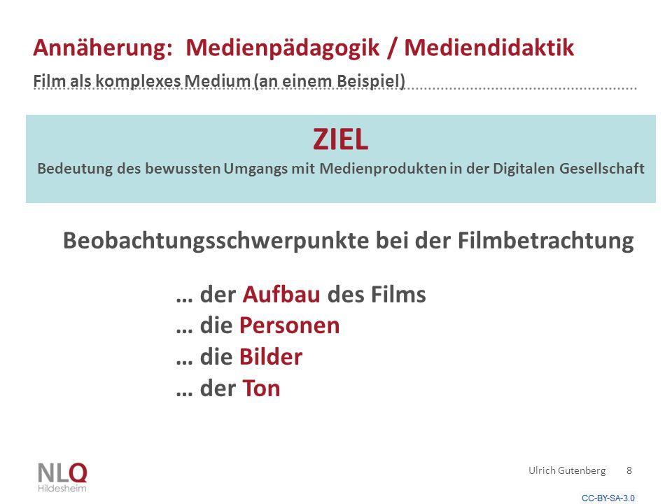 Annäherung: Medienpädagogik / Mediendidaktik Film als komplexes Medium (an einem Beispiel)