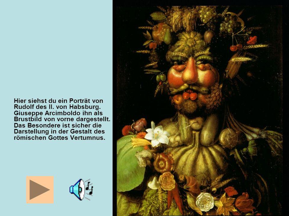 Hier siehst du ein Porträt von Rudolf des II. von Habsburg