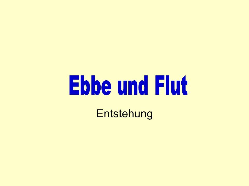 Ebbe und Flut Entstehung