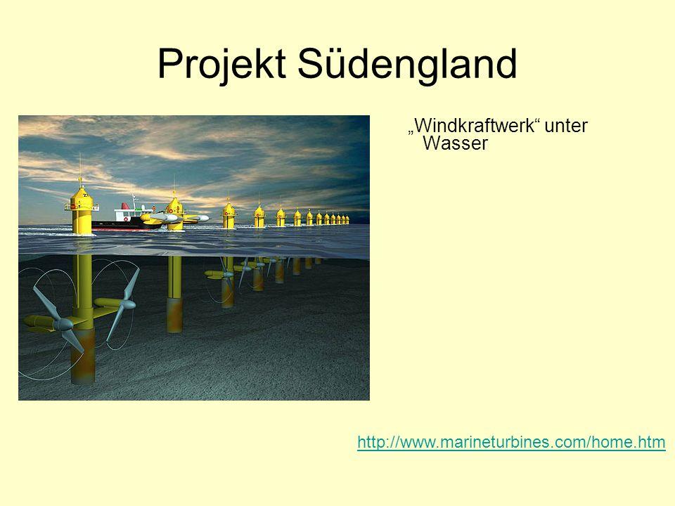 """Projekt Südengland """"Windkraftwerk unter Wasser"""