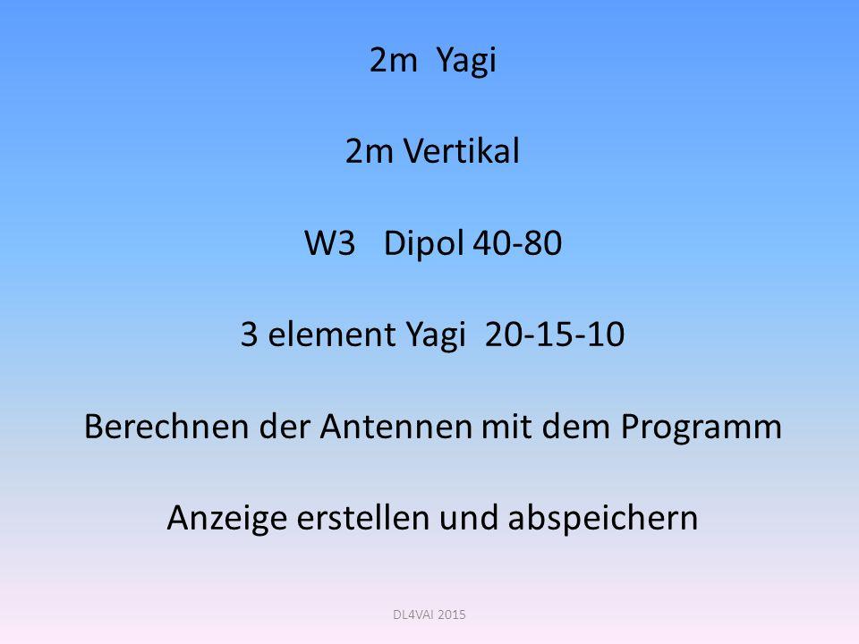Berechnen der Antennen mit dem Programm