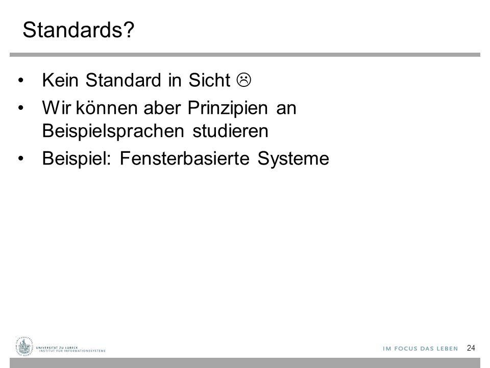 Standards Kein Standard in Sicht 