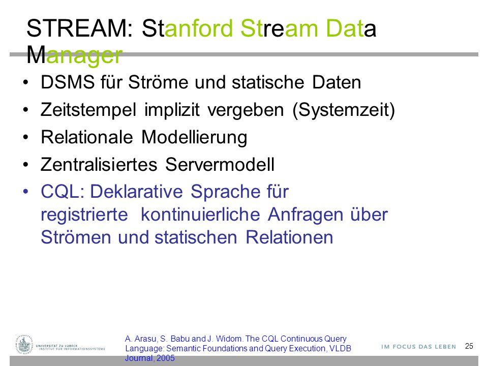 STREAM: Stanford Stream Data Manager
