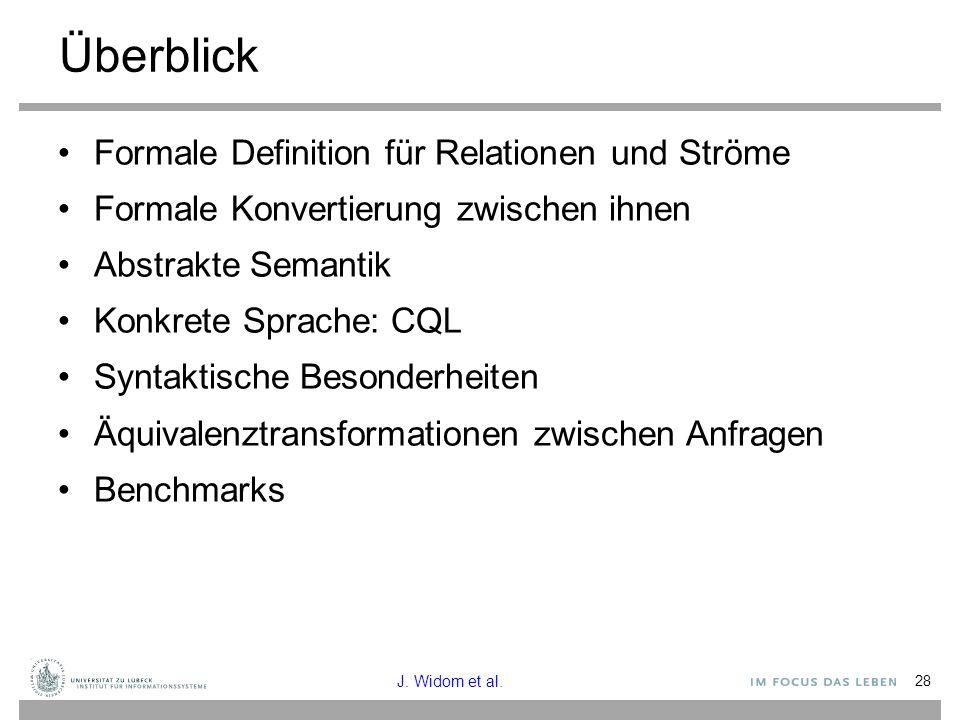 Überblick Formale Definition für Relationen und Ströme
