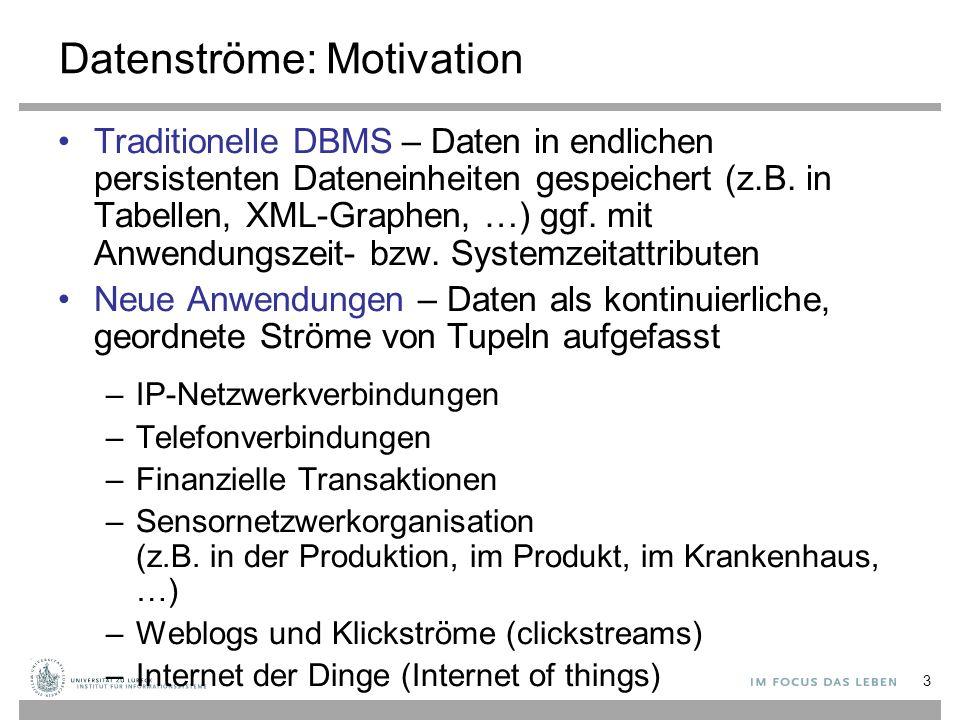 Datenströme: Motivation