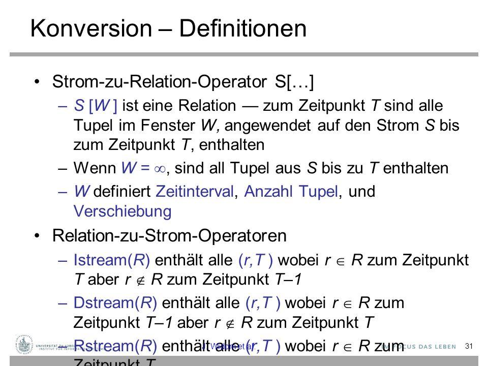 Konversion – Definitionen
