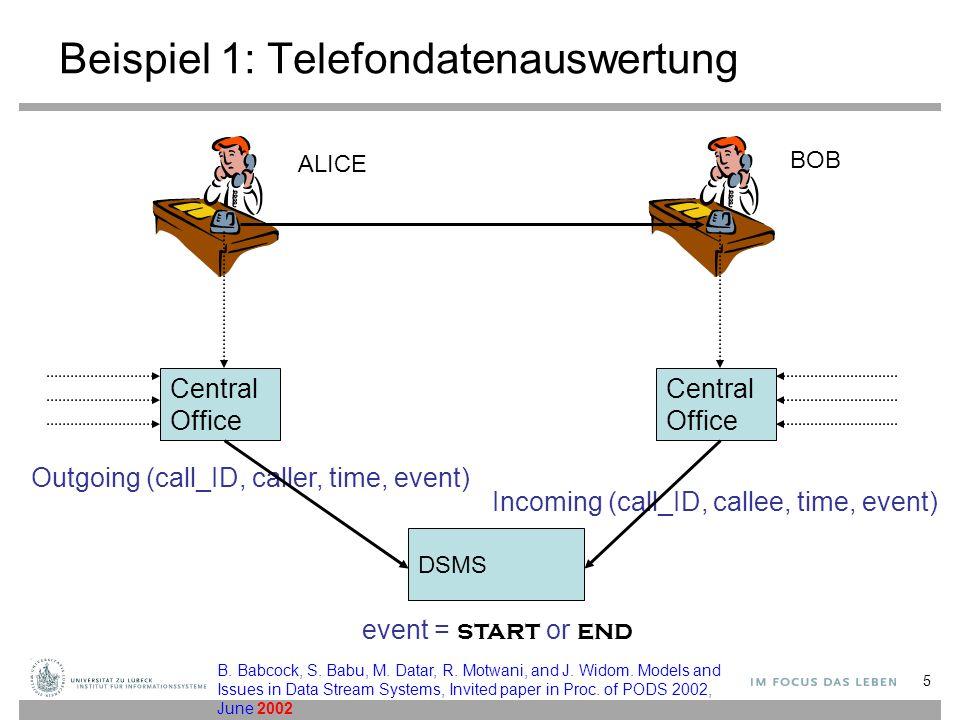 Beispiel 1: Telefondatenauswertung