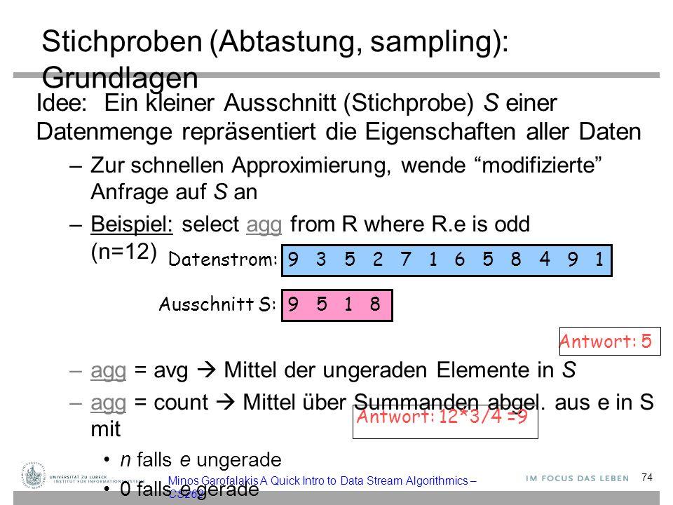 Stichproben (Abtastung, sampling): Grundlagen