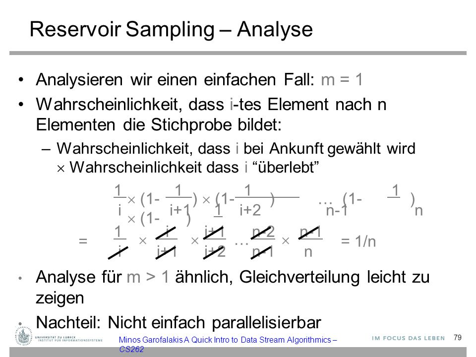 Reservoir Sampling – Analyse
