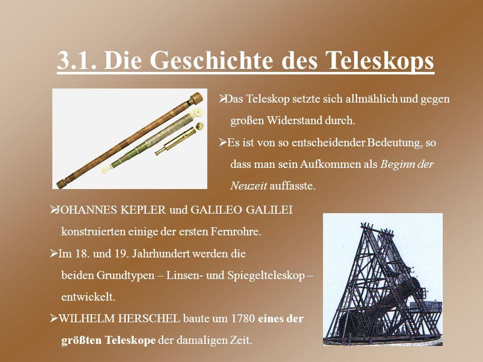 3.1. Die Geschichte des Teleskops