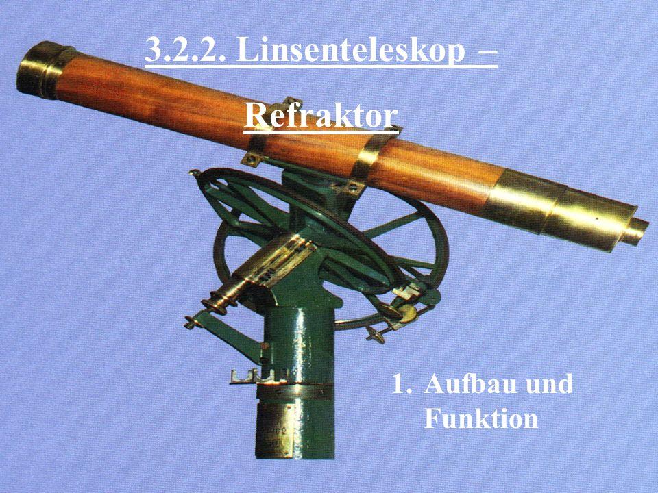 3.2.2. Linsenteleskop – Refraktor