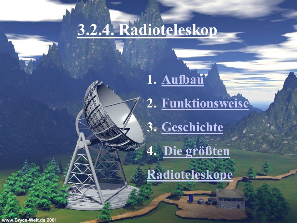 3.2.4. Radioteleskop Aufbau Funktionsweise Geschichte 4. Die größten