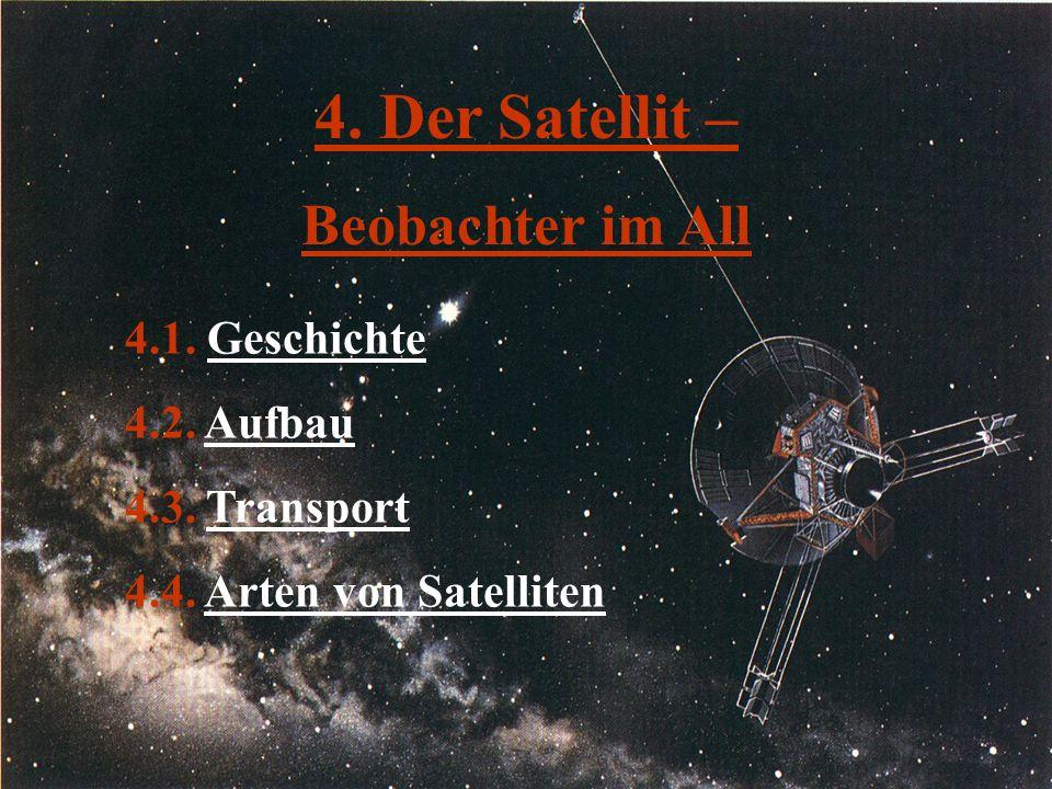 4. Der Satellit – Beobachter im All 4.1. Geschichte 4.2. Aufbau