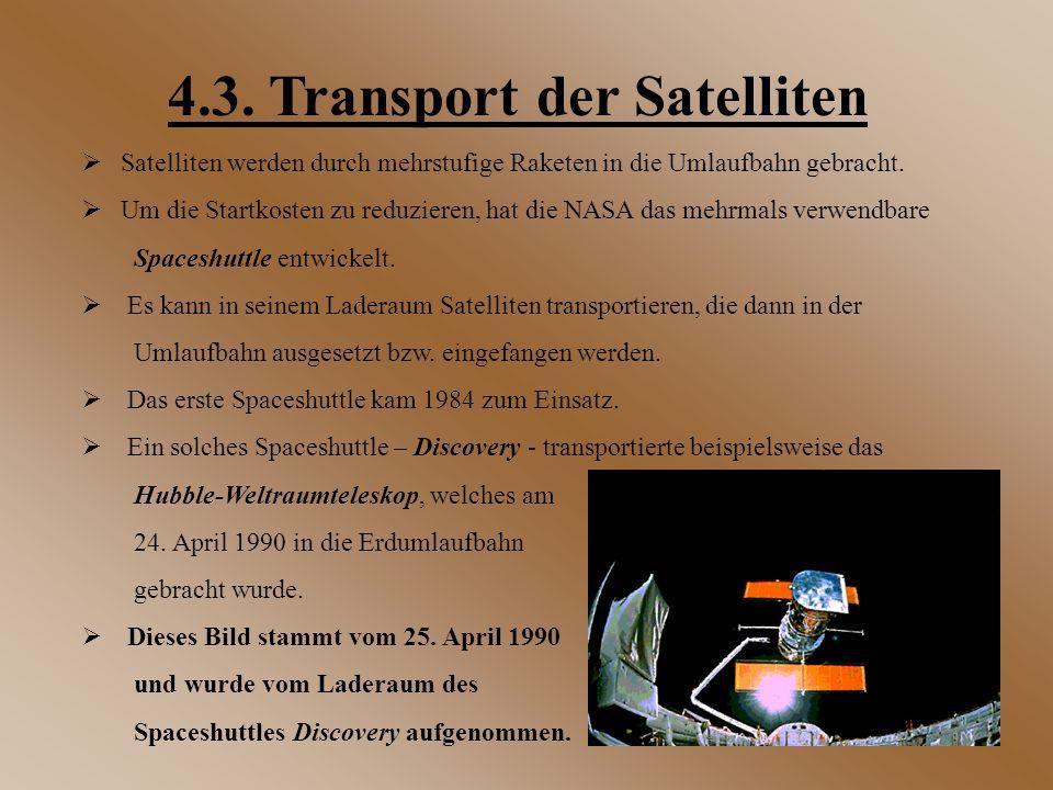 4.3. Transport der Satelliten