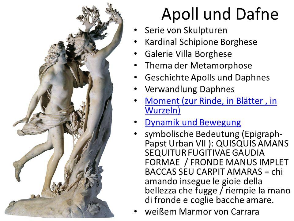 Apoll und Dafne Serie von Skulpturen Kardinal Schipione Borghese