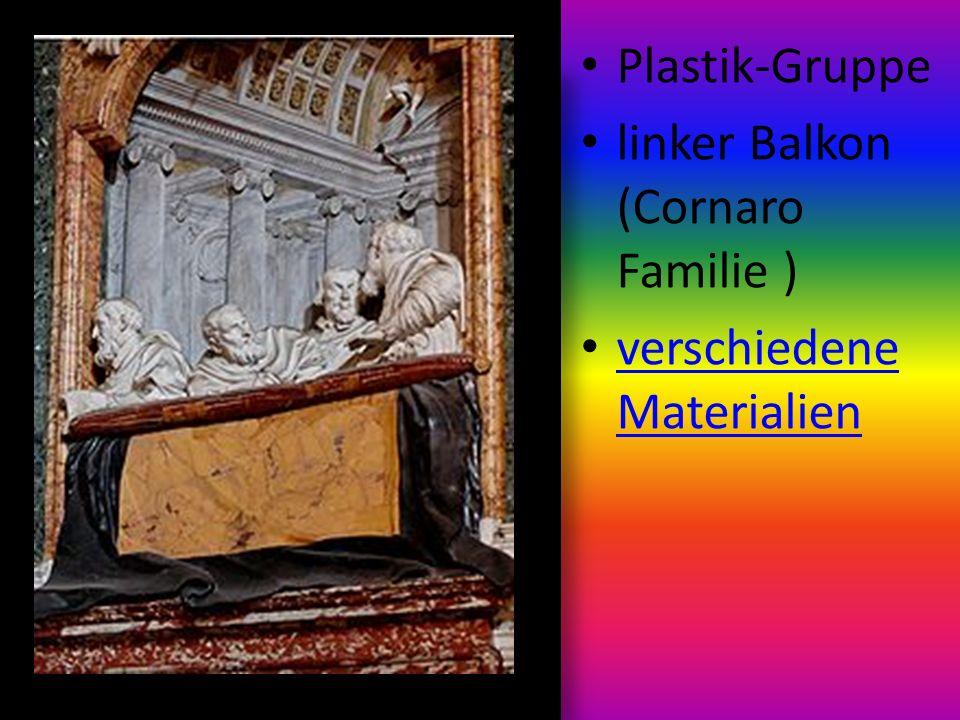 Plastik-Gruppe linker Balkon (Cornaro Familie ) verschiedene Materialien