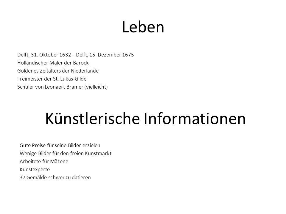 Künstlerische Informationen