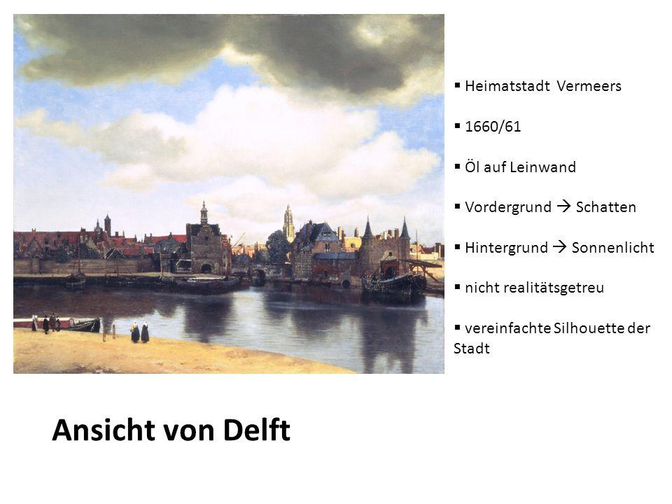 Ansicht von Delft Heimatstadt Vermeers 1660/61 Öl auf Leinwand
