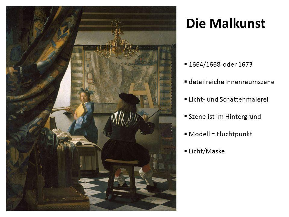 Die Malkunst 1664/1668 oder 1673 detailreiche Innenraumszene