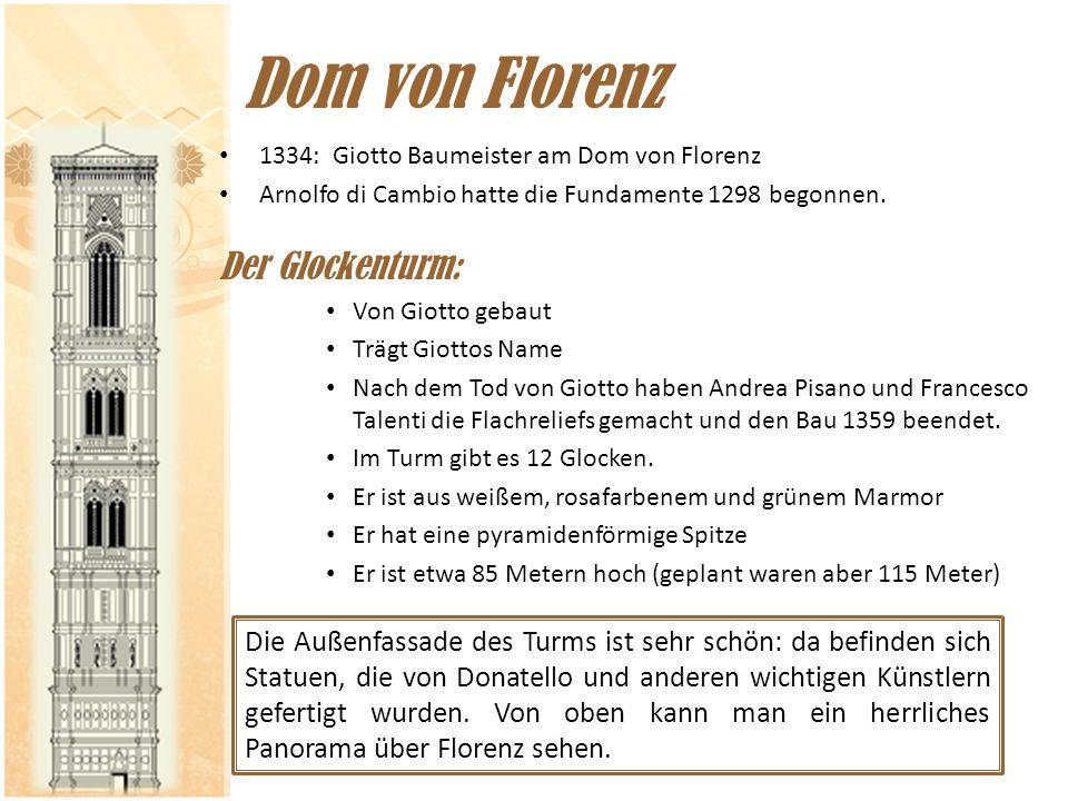 Dom von Florenz Der Glockenturm: