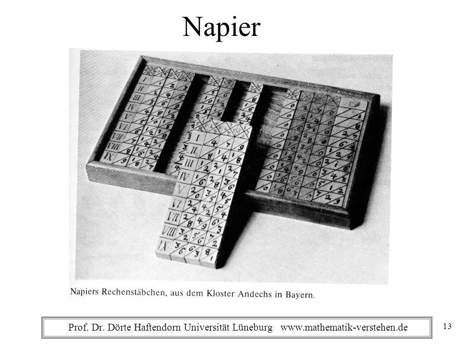 Napier Prof. Dr. Dörte Haftendorn Universität Lüneburg www.mathematik-verstehen.de