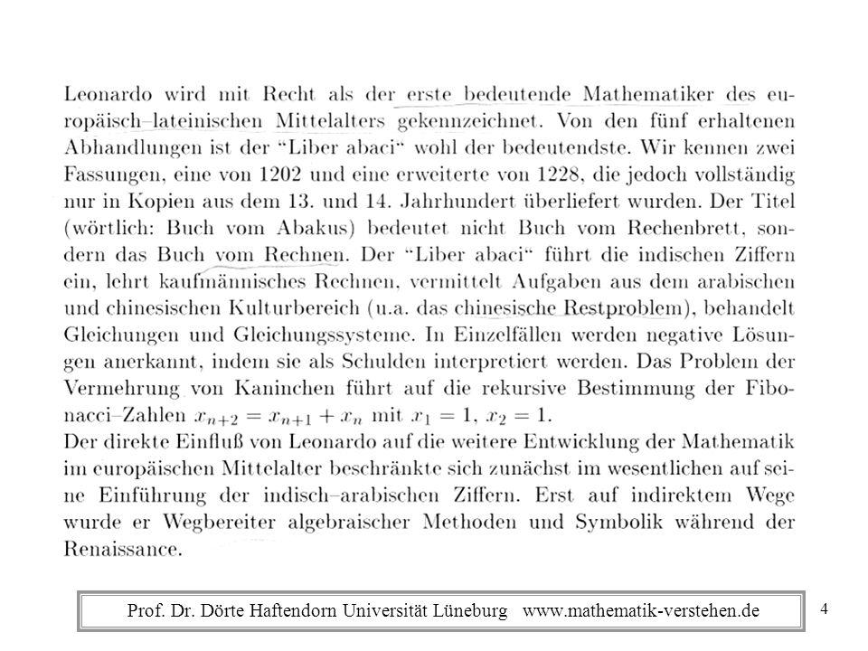 Prof. Dr. Dörte Haftendorn Universität Lüneburg www