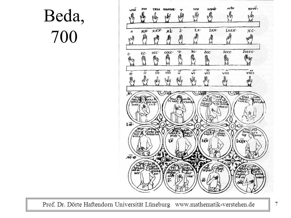 Beda, 700 Prof. Dr. Dörte Haftendorn Universität Lüneburg www.mathematik-verstehen.de
