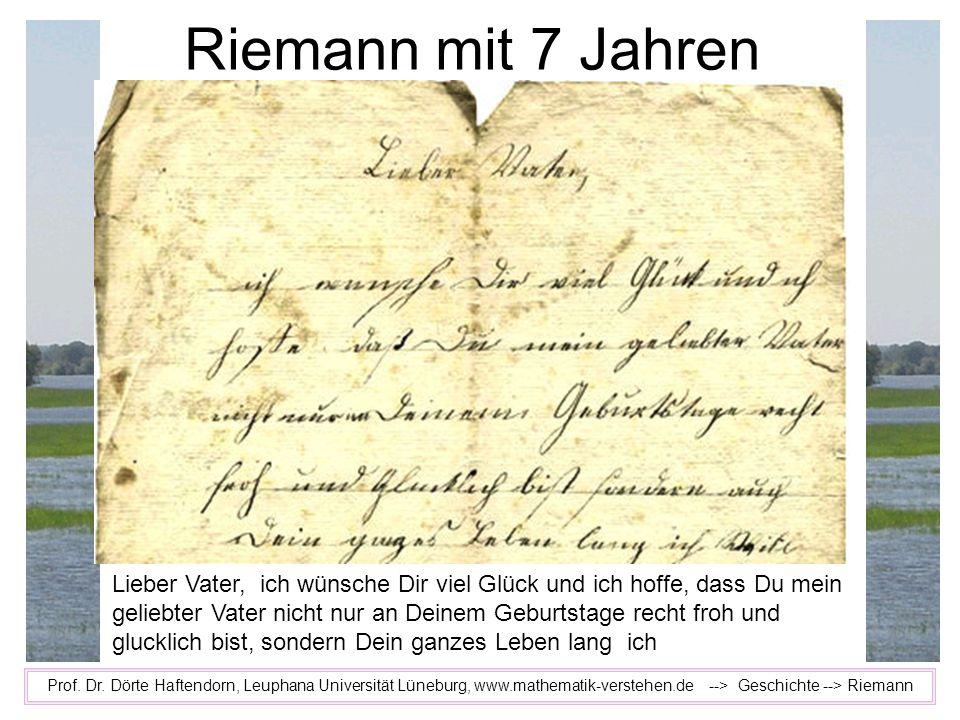 Riemann mit 7 Jahren