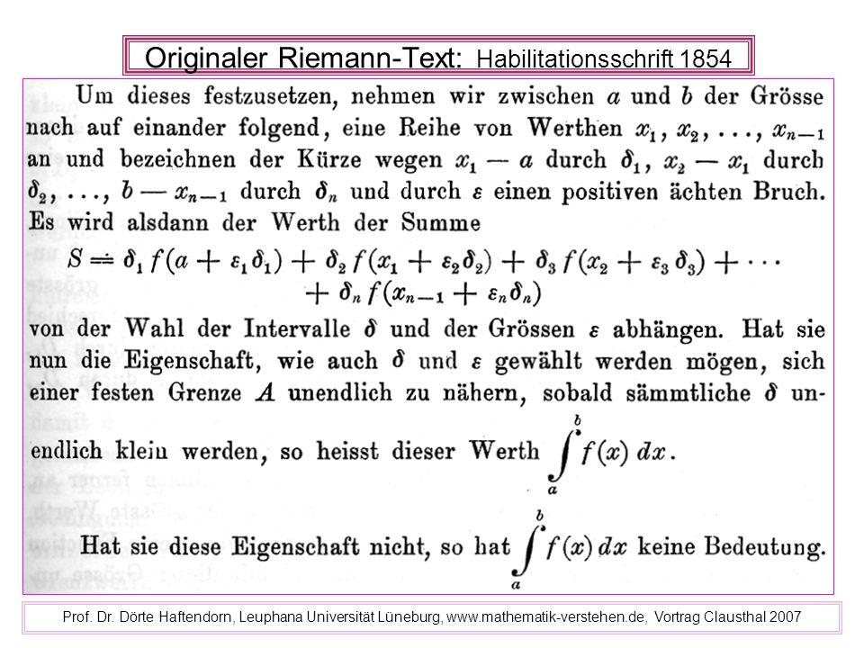 Originaler Riemann-Text: Habilitationsschrift 1854
