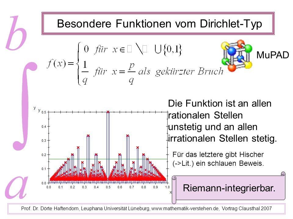 Besondere Funktionen vom Dirichlet-Typ