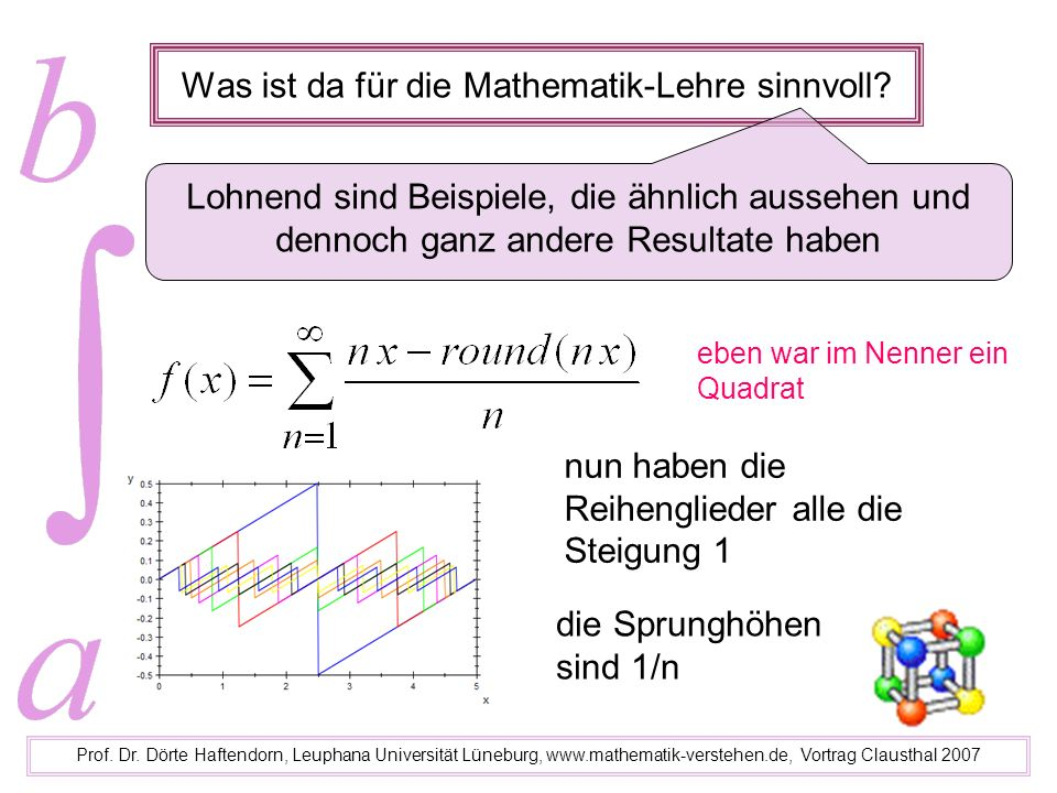 Was ist da für die Mathematik-Lehre sinnvoll
