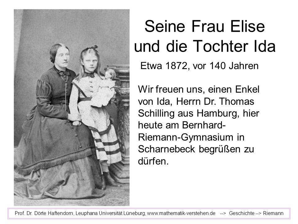 Seine Frau Elise und die Tochter Ida