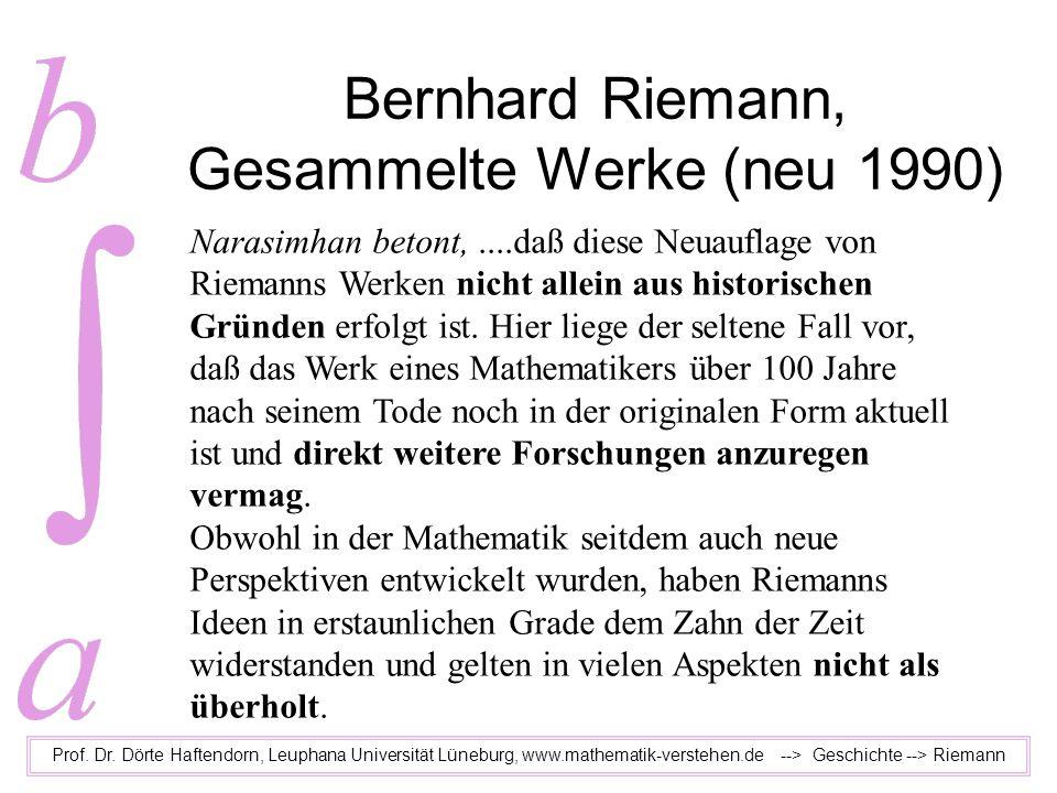 Bernhard Riemann, Gesammelte Werke (neu 1990)