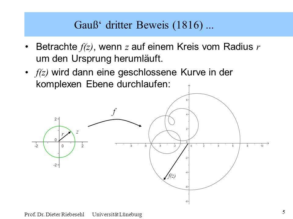 Gauß' dritter Beweis (1816) ...
