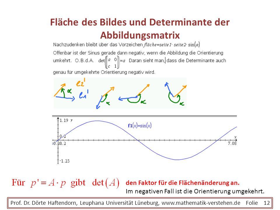Fläche des Bildes und Determinante der Abbildungsmatrix