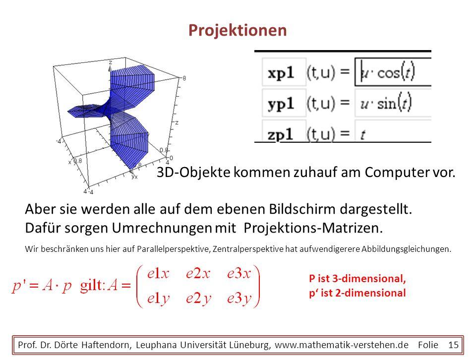 Projektionen 3D-Objekte kommen zuhauf am Computer vor.