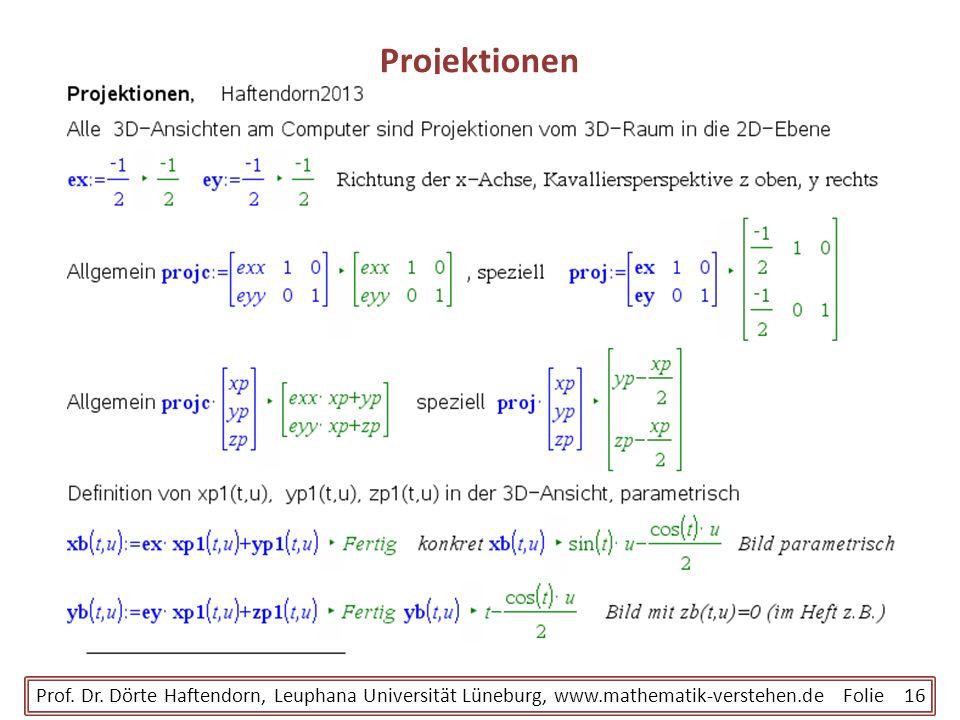 ProjektionenProf.Dr.