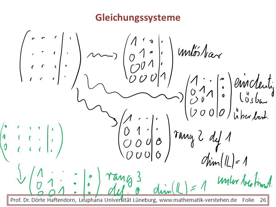 Gleichungssysteme Prof. Dr.