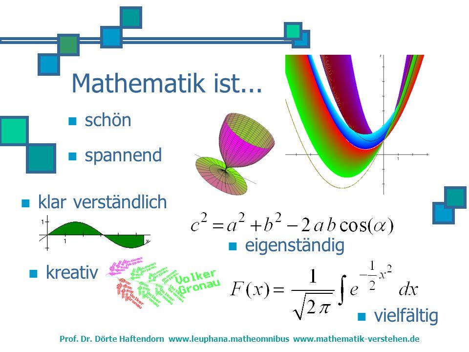 Mathematik ist... schön spannend klar verständlich eigenständig