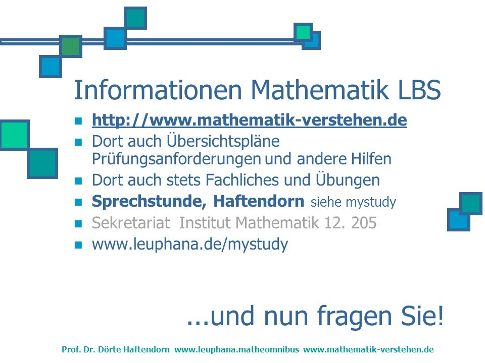 Informationen Mathematik LBS