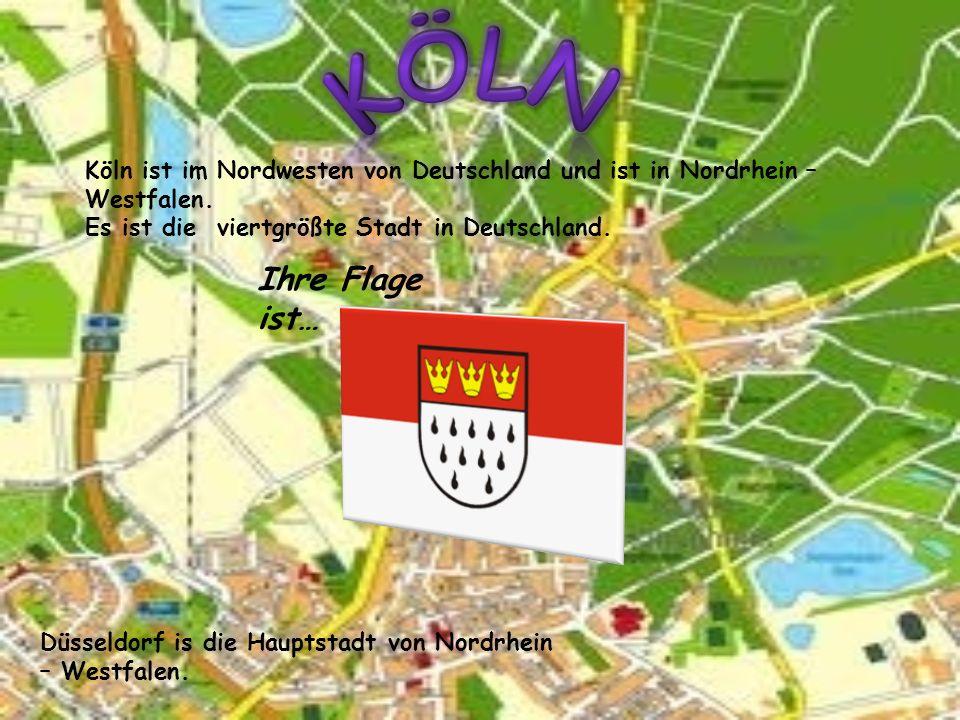 Köln Köln ist im Nordwesten von Deutschland und ist in Nordrhein – Westfalen. Es ist die viertgrößte Stadt in Deutschland.