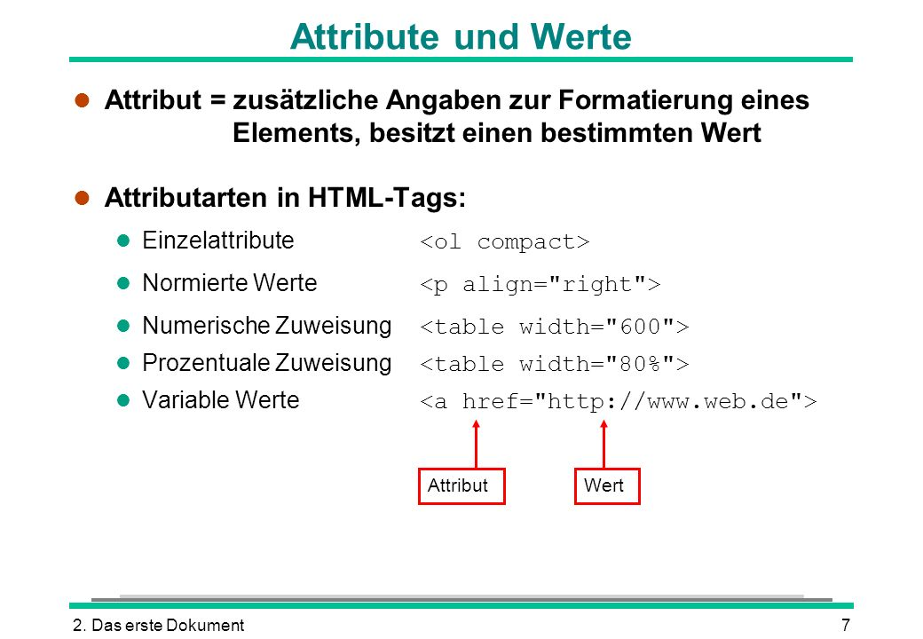 Html tags spitze klammern tags ppt herunterladen for Html table tags and attributes