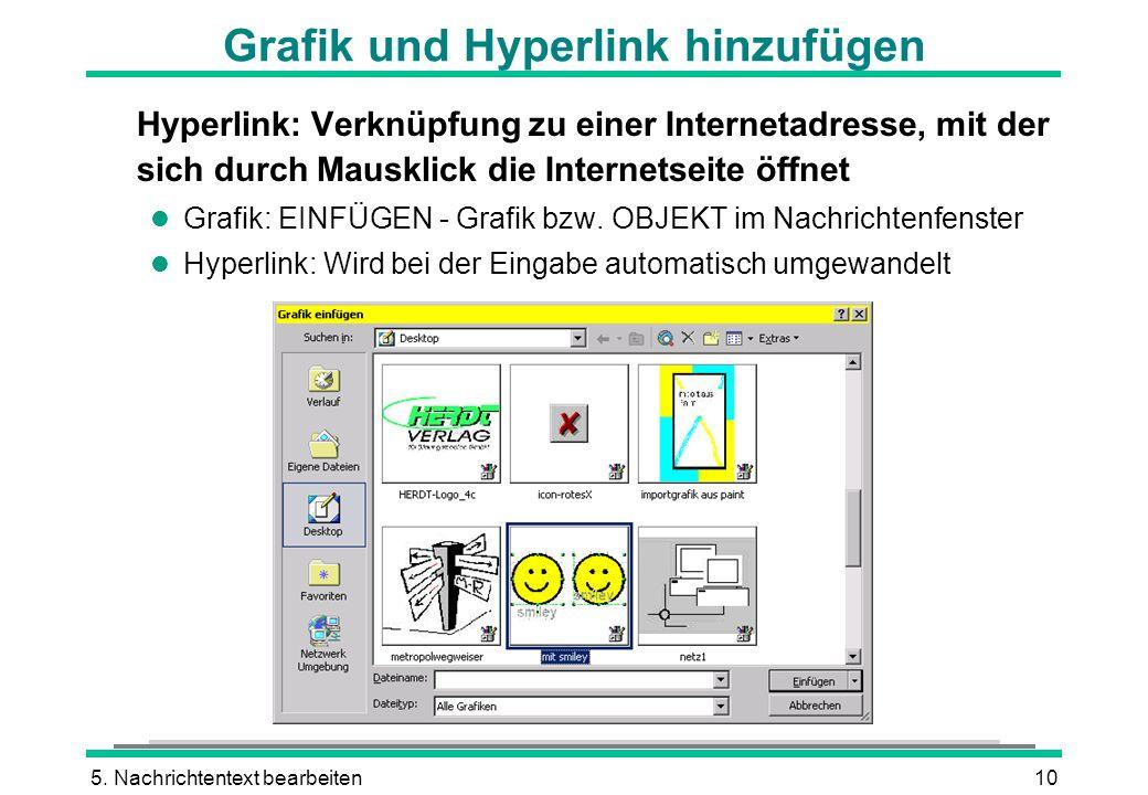 Grafik und Hyperlink hinzufügen