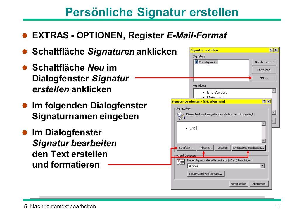 Persönliche Signatur erstellen