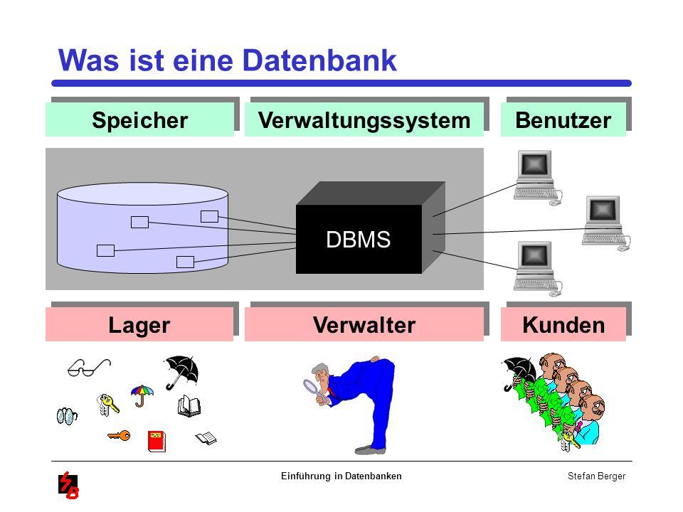 Einführung in Datenbanken
